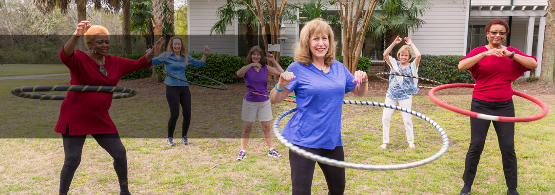 Exercise classes at the Lowcountry and Waring Senior Center